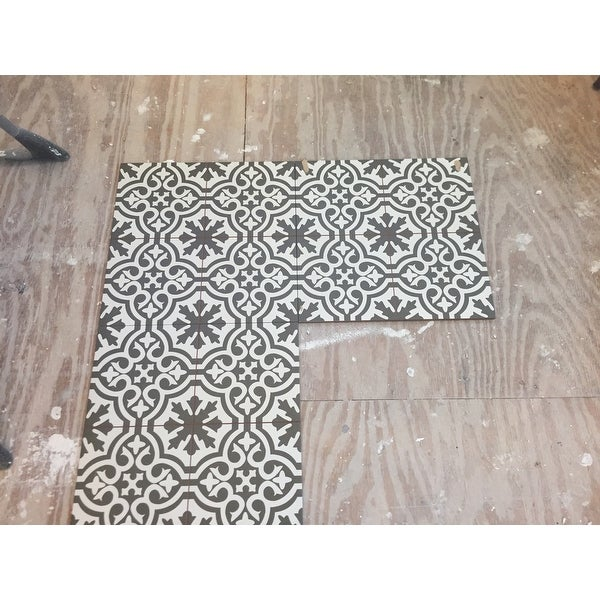 Shop Somertile 17625x17625 Inch Tudor Charcoal Brown Ceramic Floor