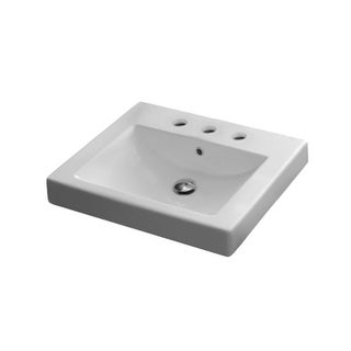 Nameeks 8007 A Scarabeo 23 5 8 Ceramic Drop In Bathroom Sink With 1 Today 374 06
