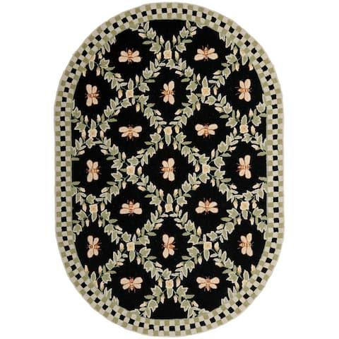 SAFAVIEH Hand-hooked Chelsea Aubree Country Oriental Wool Rug