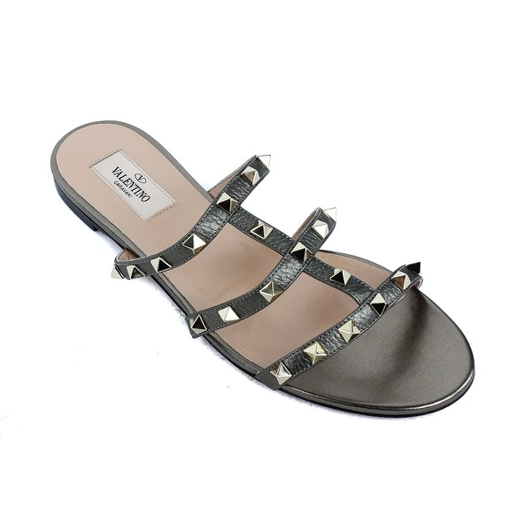 7c80c18a65858b Shop valentino army green metallic rockstud slide flat sandals jpg 600x600  Army green flat sandals