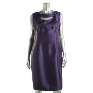 Kasper Womens Semi-Formal Dress Embellished Sleevless