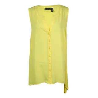 INC International Concept Women's Chiffon Front Blouse