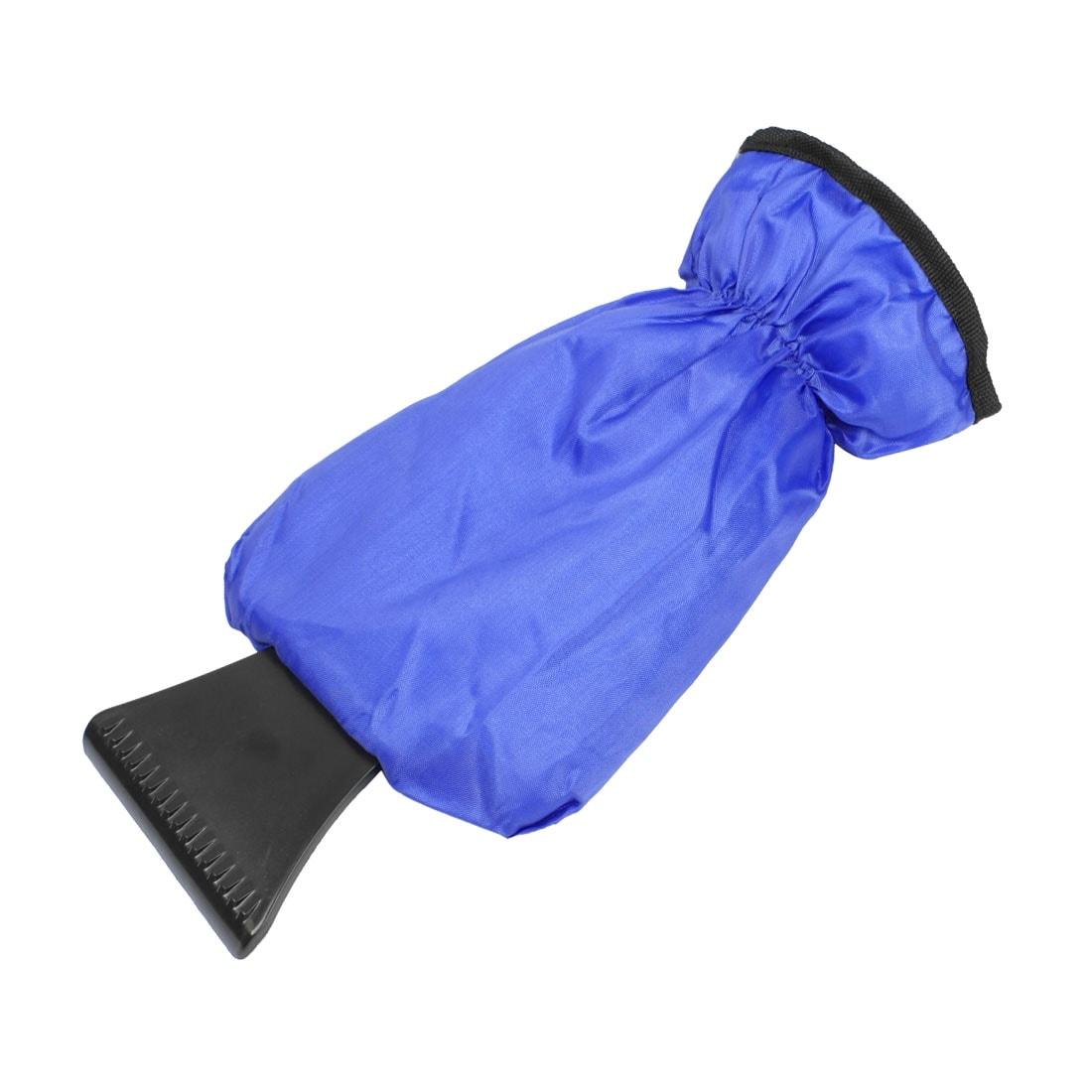 Unique Bargains Car Snow Shovel Ice Handle Emergency Scraper Cleaning Tool w Fleece Lining Glove