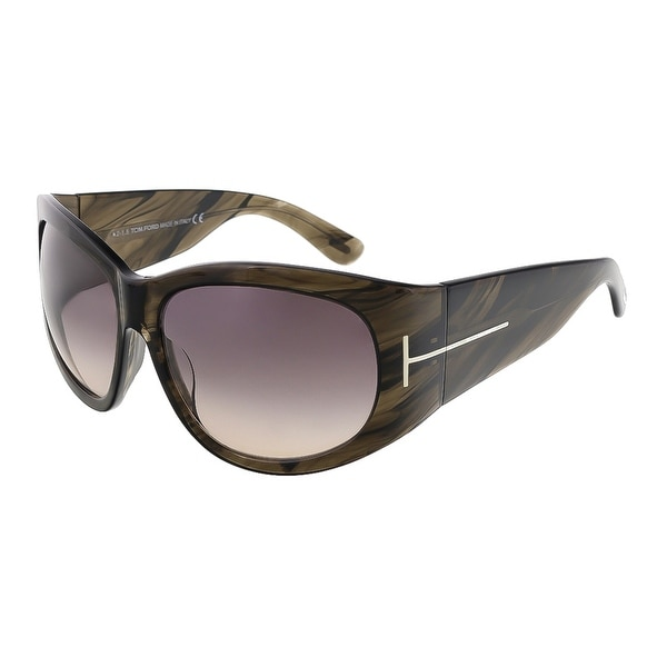 Tom Ford FT0404/S 50B Felicity Olive Horn Rectangle Sunglasses