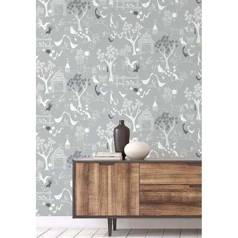 NextWall Rise and Shine Scandinavian Peel and Stick Wallpaper - 20.5 in. W x 18 ft. L