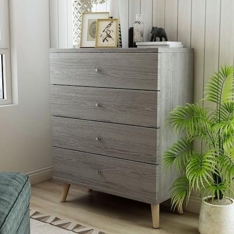 Carson Carrington Gjovik Contemporary Distressed Grey 4-drawer Chest