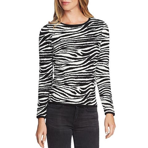 Vince Camuto Womens Pullover Sweater Crewneck Striped
