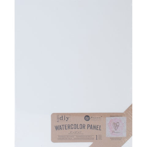"Prima Marketing DIY Watercolor Canvas Panel-8""X10"""