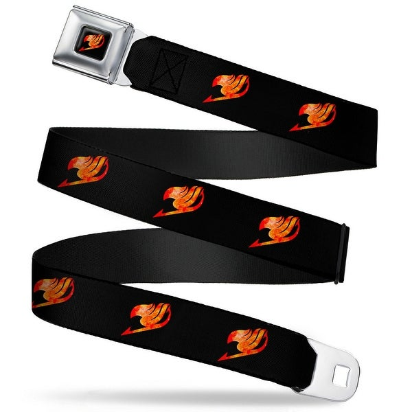 Fairy Tail Guild Symbol Full Color Black Flames Fairy Tail Guild Symbol Seatbelt Belt
