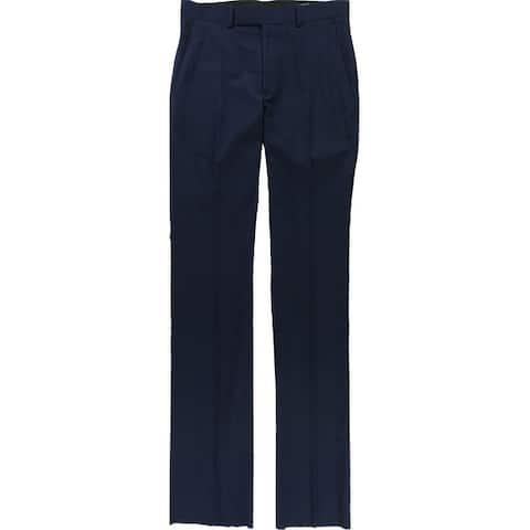 Kenneth Cole Mens Sharkskin Dress Pants Slacks