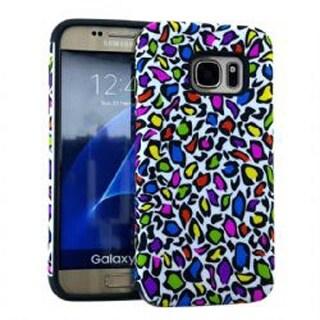 MYVI Series Slim Hybrid Protector Case for Samsung Galaxy S7 (Colorful Leopard P