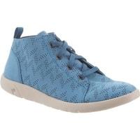 Bearpaw Women's Gracie High Top Sneaker Ceramic Blue Microsuede