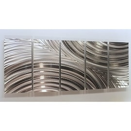 Statements2000 Etched Silver Modern Metal Wall Art Sculpture By Jon Allen    Synchronicity
