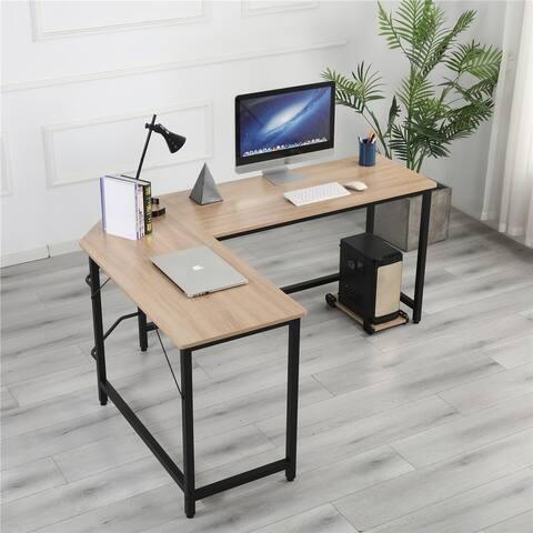 Global Pronex L-shape Corner Workstation Steel Computer Gaming Desk