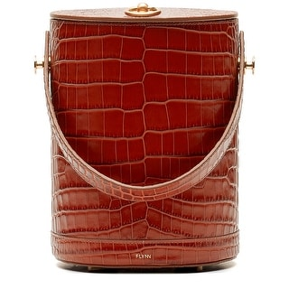 Link to Flynn Pilla Croc-Embossed Leather Cylinder Bag Similar Items in Shop By Style
