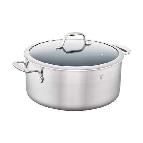 ZWILLING Spirit 3-ply 8-qt Stainless Steel Ceramic Nonstick Stock Pot - Stainless Steel