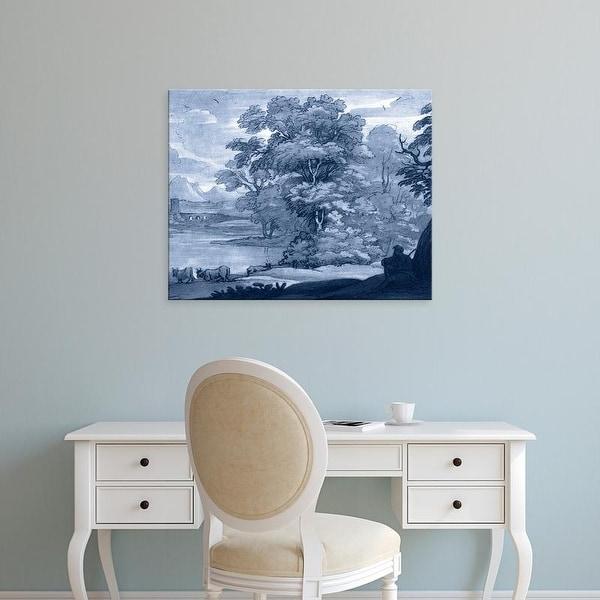 Easy Art Prints Claude Lorrain's 'Pastoral Toile II' Premium Canvas Art