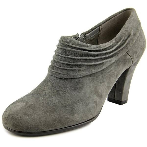 Aerosoles Starring Role Women Round Toe Suede Gray Bootie