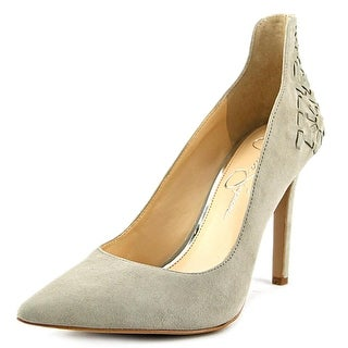 Jessica Simpson Crampell Women Pointed Toe Suede Gray Heels