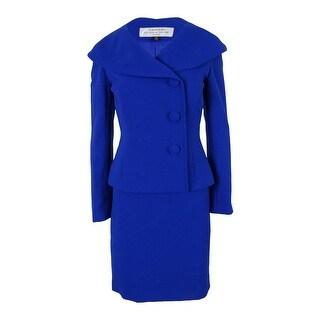 Tahari Women's Three Button Jacket Skirt Suit