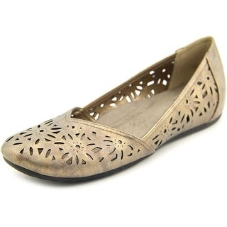 Easy Street Charlize Women W Open-Toe Synthetic Bronze Flats