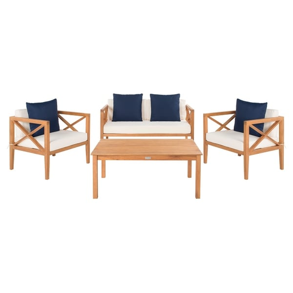 Shop Safavieh Outdoor Living Montez 4 Piece Set with ... on Safavieh Outdoor Living Montez 4 Piece Set id=78092