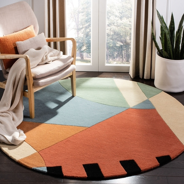 Safavieh Handmade Rodeo Drive Sofoula Mid-Century Modern Abstract Wool Rug. Opens flyout.