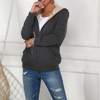 Link to Fleece Sherpa Lined Zip Up Hooded Sweatshirt Similar Items in Loungewear
