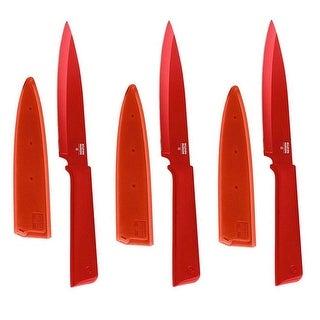 Kuhn Rikon 26541-KUHN Colori Utility Knife (Red, 3-Pack)