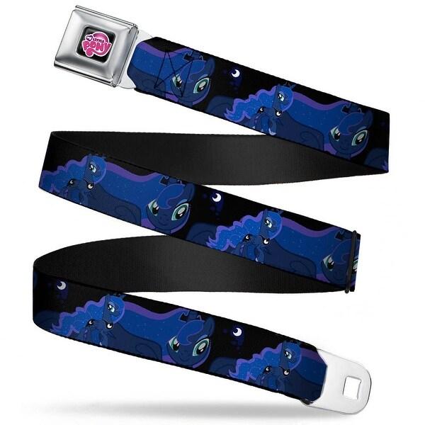 My Little Pony Logo Full Color Black Pink Princess Luna Poses Webbing Seatbelt Belt