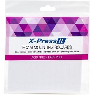 """White - X-Press It Foam Mounting Squares .5""""X.5"""" 144/Pkg"""