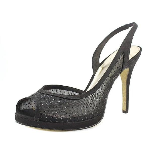 Adrianna Papell Georgi Women Peep-Toe Synthetic Black Heels