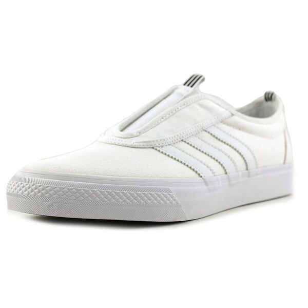 Tienda adidas Adi Ease Kung Fu hombres ronda dedo lienzo blanco skate zapatos