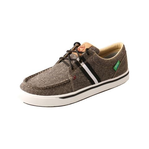 Twisted X Casual Shoes Mens Stripe Moc Toe Lace Up Charcoal