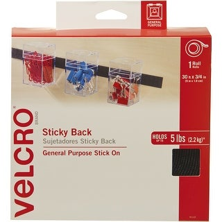 """Velcro(R) Brand Sticky Back Tape .75""""X30'-Black"""