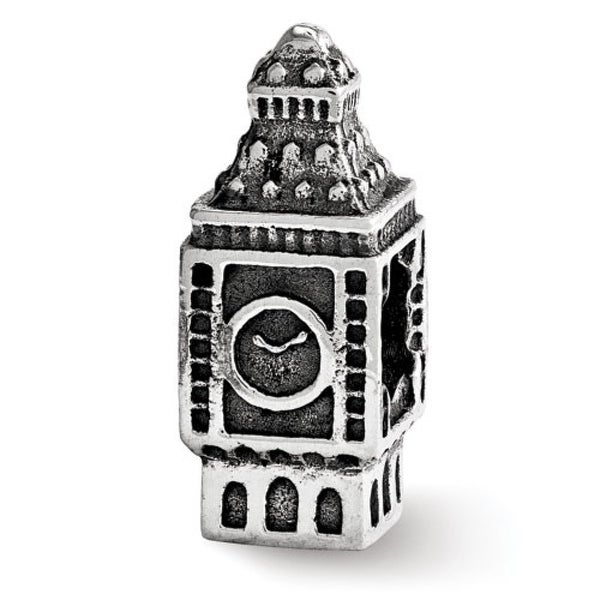 Sterling Silver Reflections Big Ben Clock Bead (4mm Diameter Hole)