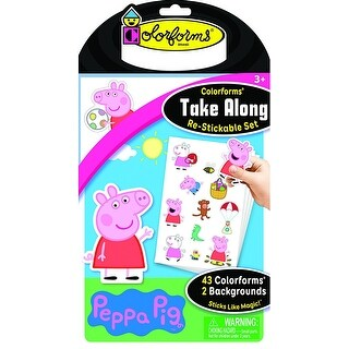 Colorforms Take Along Re-Stickable Set: Peppa Pig - multi