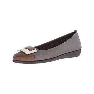 The Flexx Womens Rise N Curry Ballet Flats Leather Cap Toe