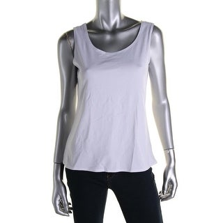 Notations Womens Sleeveless Solid Pullover Top - L