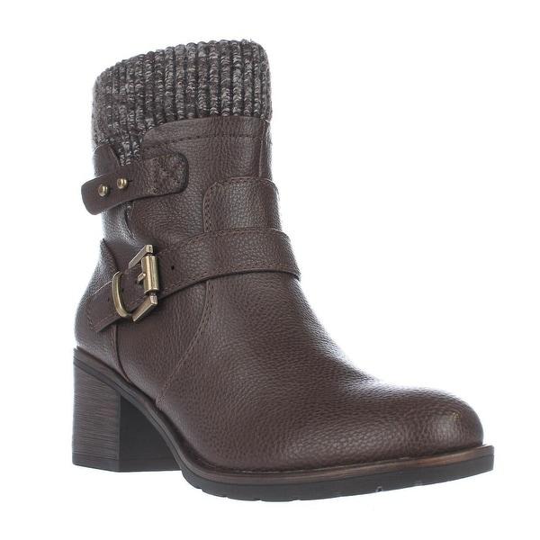BareTraps Dover Wool Rimmed Combat Boots, Brown