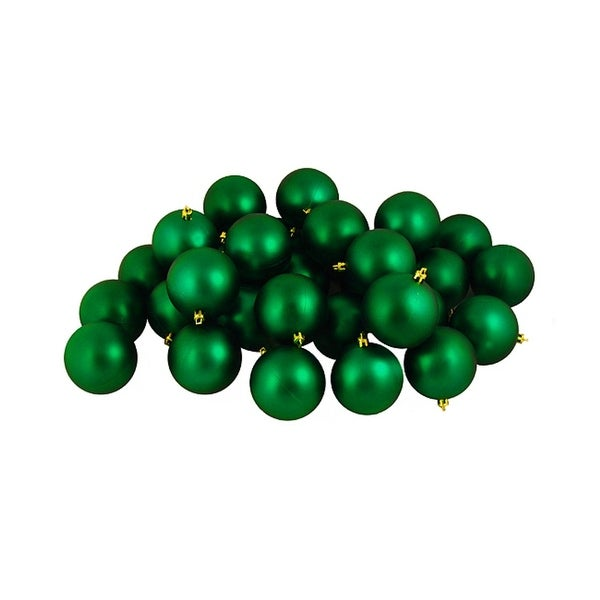 "12ct Matte Xmas Green Shatterproof Christmas Ball Ornaments 4"" (100mm)"