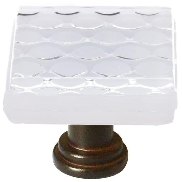 Sietto K-900 Texture 1-1/4 Inch Square Cabinet Knob