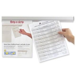 Advantus Corp. AVT2015 Grip-A-Strip Display Rail- 96in.L- Satin