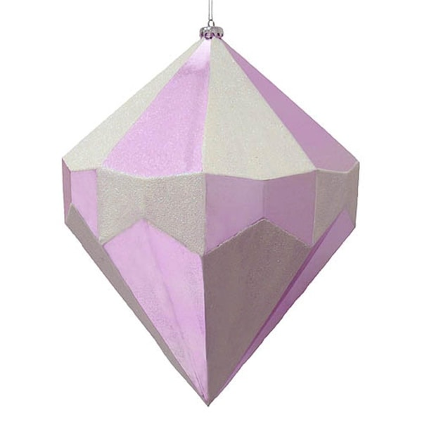 """Giant 18"""" Lavander and Silver Diamond Commercial Christmas Ornament Decoration"""