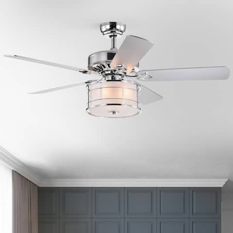 """52"""" Canopus 5 Blade Chandelier Ceiling Fan with Remote Control and Light Kit Included"""