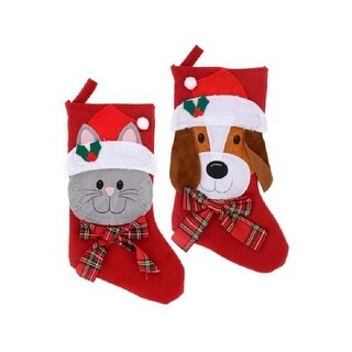 Christmas House Dog and Cat Pet Stockings, 18 inch