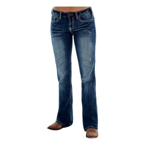 Cowgirl Tuff Western Denim Jeans Womens Edgy Barbed Wire Medium