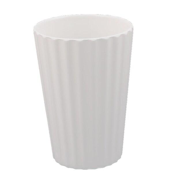 Household Plastic Ripple Pattern Tea Water Cup Fruit Juice Bottle White
