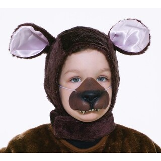 Bear Hood & Nose Animal Costume Set Child Standard - Brown