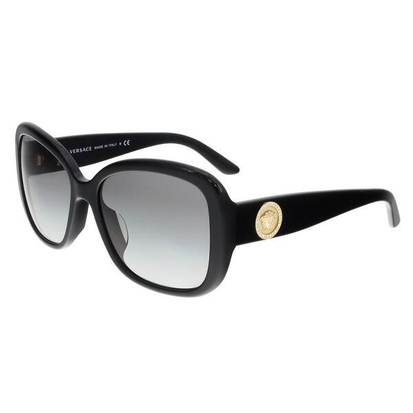 7aa83dae4c53 Shop Versace VE4278BA GB1/11 Black Square Sunglasses - 57-17-135 ...